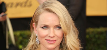 Naomi Watts in navy Balenciaga at the SAGs: plain or pretty?