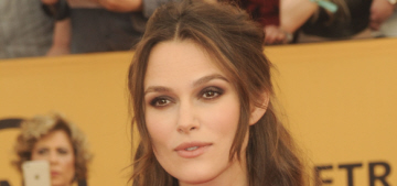 Keira Knightley in maternity Erdem at the SAGs: lovely or poorly designed?