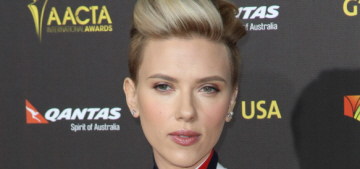Scarlett Johansson in fringed Preen at the G'Day LA event: pretty or cheap?