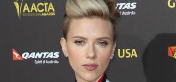 Scarlett Johansson in fringed Preen at the G'Day LA event: pretty or cheap?