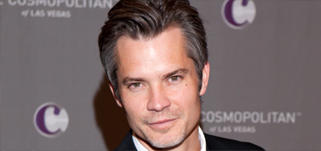 Timothy Olyphant talks fried chicken, rice cookers & cappuccino hearts: hot?