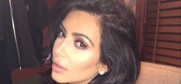 Kim Kardashian's ideal selfie partner?  Her dad.  Or Jesus.  Or Marilyn.