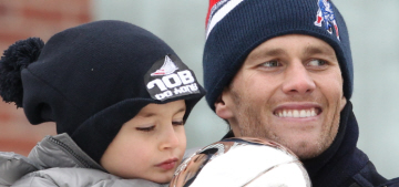 Benjamin Brady, 5, was the star of the Patriots parade, then he took a nap