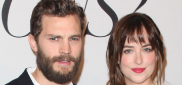 Dakota Johnson & Jamie Dornan do a daytime 'Grey' premiere: sad or funny?