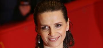 Juliette Binoche did wet-look hair at her Berlinale premiere: tragic or hot?