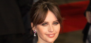 Felicity Jones in Dior at the BAFTAs: did she finally bring some drama?