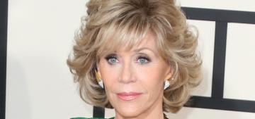 Jane Fonda still smokes pot but she can't watch movies high anymore