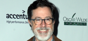 Stephen Colbert debuts his silver Colbeard at LA event: would you hit it?