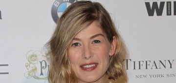 Rosamund Pike at the Women In Film Pre-Oscar Cocktail Party: lovely or bizarre?