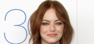Emma Stone in Monique Lhuillier at the Spirit Awards: lovely or boring?