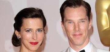 Benedict Cumberbatch & Lanvin-clad Sophie at the Oscars: gracious & cute?
