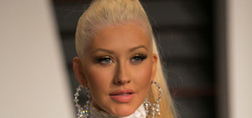 Christina Aguilera in Marc Bouwer at the VF Oscar party: pretty or try-hard?