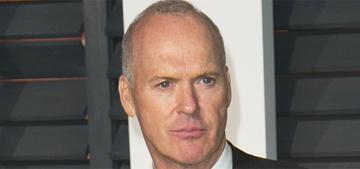 Did Michael Keaton hide his speech when Eddie Redmayne won the Oscar?