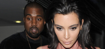 Yeezus wept & Kim Kardashian wore a too-tight pink latex (?) dress in London