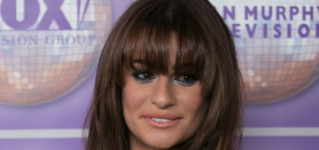 Lea Michele's shaggy bangs at an LA event: completely awful or not that bad?
