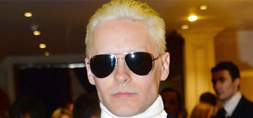 Jared Leto shows off his new blonde look in Paris: would you hit it?