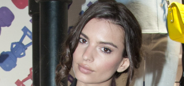 """Emily Ratajkowski is the only brunette at Paris Fashion Week"" links"