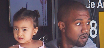 Kim Kardashian & Kanye finally let North West wear pink: adorable?