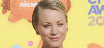 Kaley Cuoco shows off her not-pregnant midriff in Lela Rose: cute or budget?