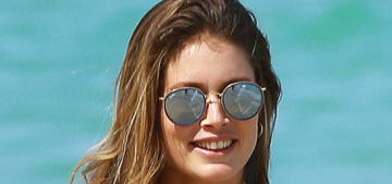 """Doutzen Kroes rocked an excellent one-piece swimsuit in Miami"" links"