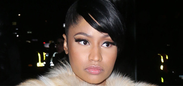 Nicki Minaj shows off a heart-shaped engagement ring: tacky or nice?