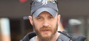 Tom Hardy jokes that he based his Russian accent on Sesame Street's Count