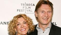 Liam Neeson comforted by Broadway during tribute to Natasha Richardson