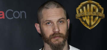 Tom Hardy looked grumpy, under-dressed at Cinema-Con: would you hit it?