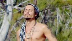 Johnny Depp shirtless – just because