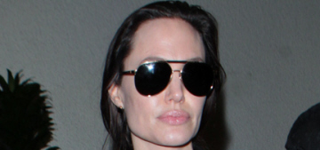 Angelina Jolie & Maddox fly to LA, meanwhile Brad is mysteriously bruised