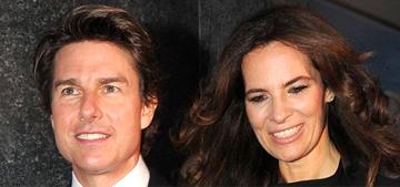 Tom Cruise had a super fun time with Roberta Armani last night in Milan