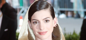 Anne Hathaway in gold Ralph Lauren at the Met Gala: stunning or basic?