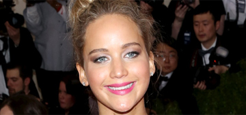 Jennifer Lawrence in floral Dior at the Met Gala: awful or not bad?
