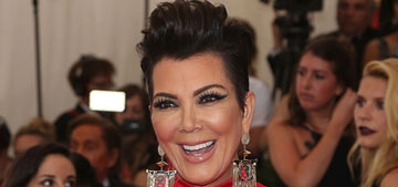 Kris Jenner looks like the theme for the Met Gala threw up all over her