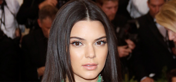 Kendall Jenner in Calvin Klein at the Met Gala: pretty or frozen?