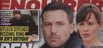 Enquirer: Did Ben Affleck 'storm out' on Jennifer Garner on her birthday?