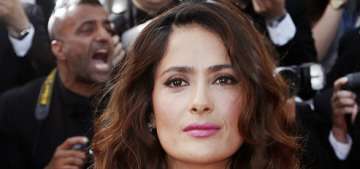 Salma Hayek in Gucci at the Cannes Film Festival: stunning & beautiful?