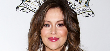 Alyssa Milano: mom guilt is 'prewired in women back to caveman days'