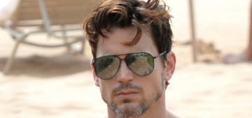Matt Bomer is shirtless, damp & beautiful on vacation in Maui: would you hit it?