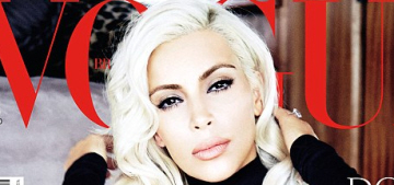 Kim Kardashian covers Vogue Brazil as a Marilyn-esque blonde: tragic or hot?