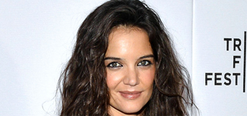 Katie Holmes: 'I never used to wash my hair, now I like to wash it every day'