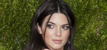 Kendall Jenner in salmon Calvin Klein at the Tony Awards: cute or tedious?