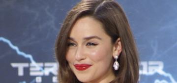Emilia Clarke has a funny story about Jason Momoa's 'huge' pink modesty sock