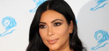Kim Kardashian in Balmain stripes at Cannes Lions: beautiful or Beetlejuice?