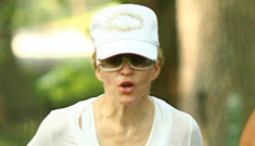 Madonna out jogging with her ex boyfriend
