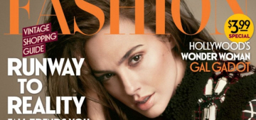 Gal Gadot covers Fashion: 'The military gave me good training for Hollywood'