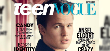 Ansel Elgort wore the same clothes for four days before the Oscars: gross?