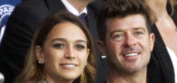 Is Robin Thicke, 38, engaged to his 20-year-old girlfriend, April Geary?