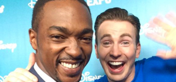 Chris Evans was super wired at the Disney D23 Marvel presentation this weekend