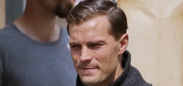 Is Jamie Dornan getting too 'flirty' with the local ladies while filming in Prague?